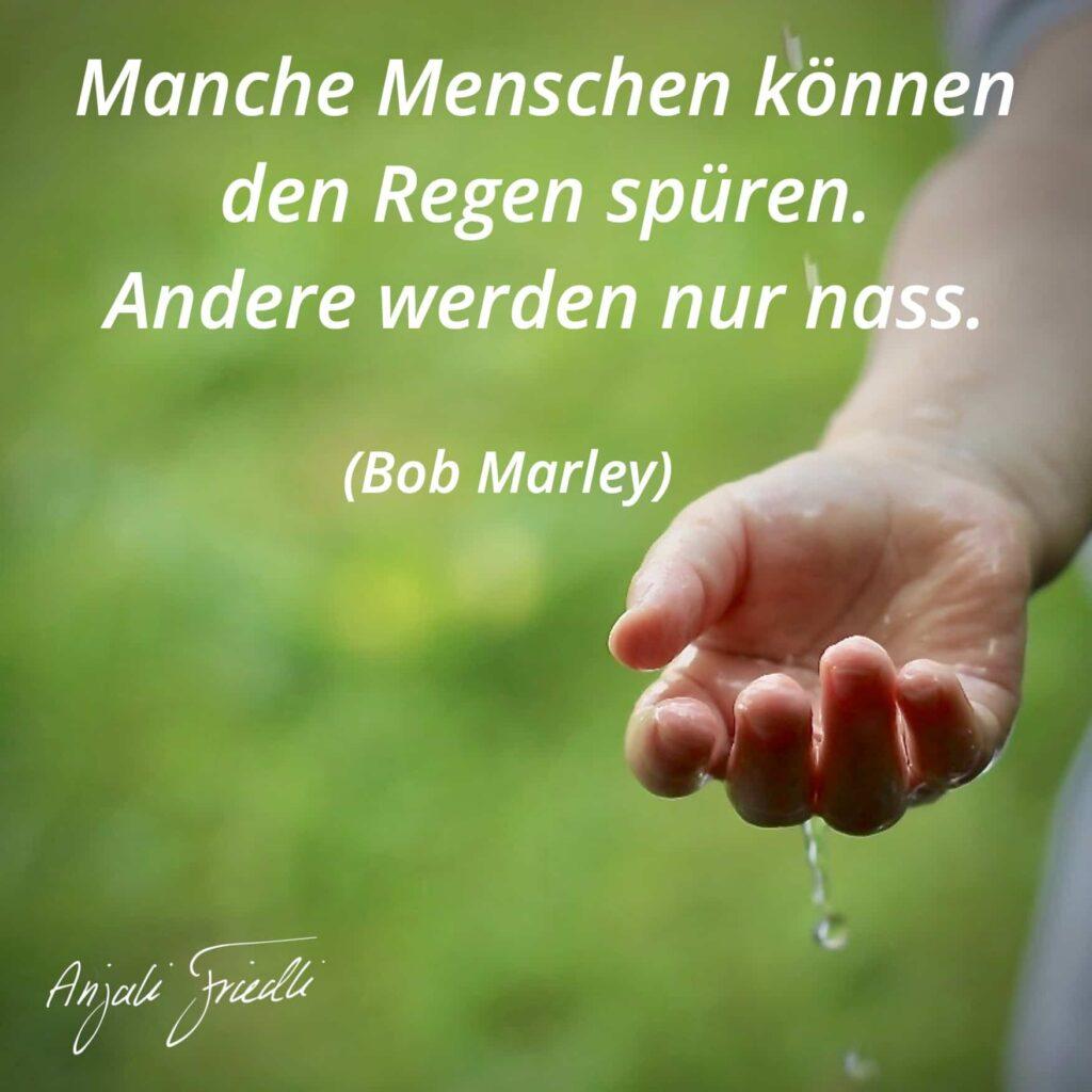 Bob Marley - Manche Menschen können den Regen spüren. Andere werden nur nass
